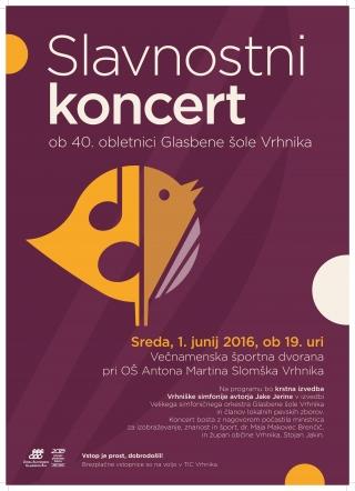 Slavnostni koncert ob 40. obletnici GŠ Vrhnika